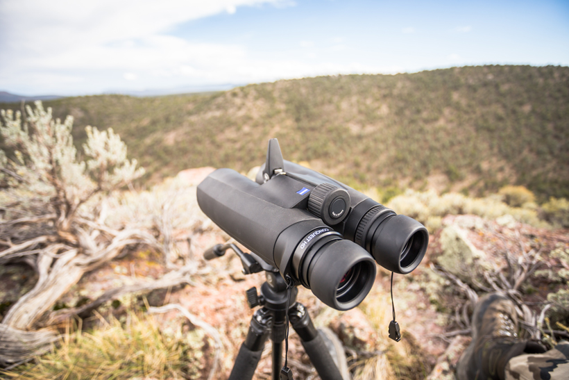 spotting scope and binoculars