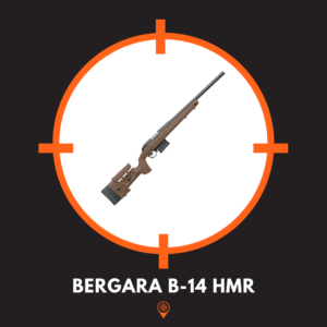 This is a picture of a bergara b-14 hmr rifle, one of the best long range rifles.